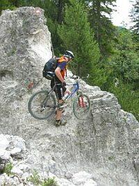 Schieben/Tragen auf Höhenweg in Italien